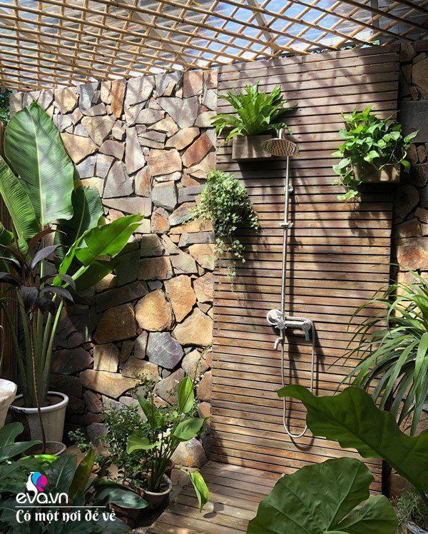 Muốn có khu tắm tiên, 8X vác tre, nứa về giữa thủ đô cải tạo sân vườn 55m2 đẹp mê - Ảnh 17.