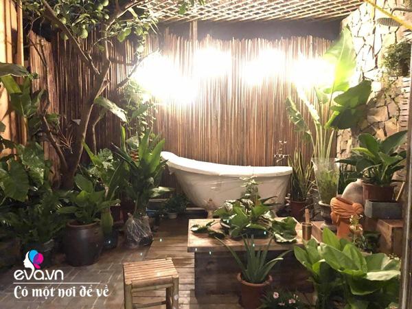 Muốn có khu tắm tiên, 8X vác tre, nứa về giữa thủ đô cải tạo sân vườn 55m2 đẹp mê - Ảnh 20.