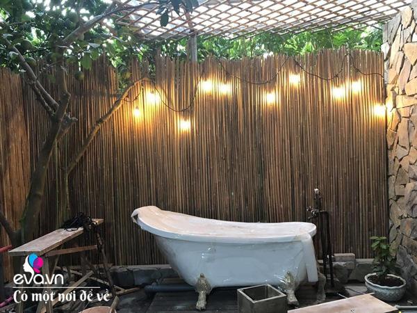 Muốn có khu tắm tiên, 8X vác tre, nứa về giữa thủ đô cải tạo sân vườn 55m2 đẹp mê - Ảnh 21.