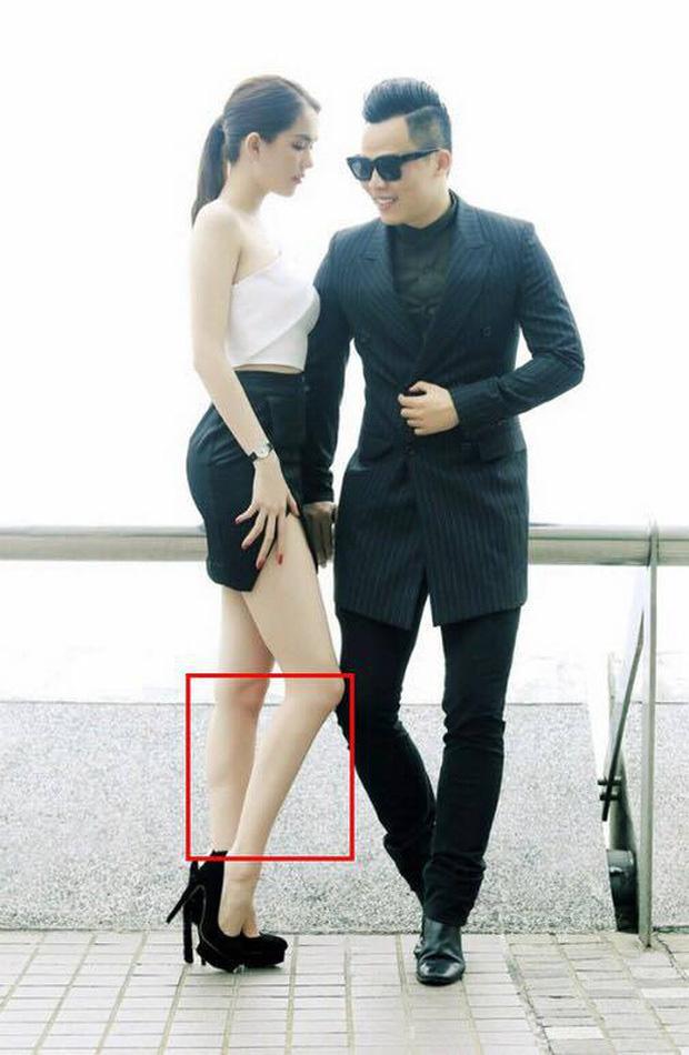 Ngọc Trinh bị bóc chỉnh sửa ảnh đến mức chân như dị dạng - Ảnh 5.