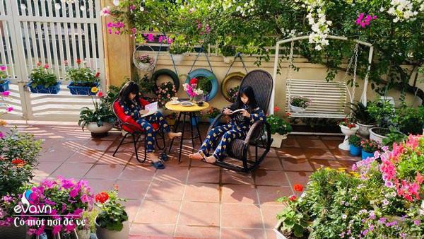 Chồng bỏ tiền mua lốp xe cũ, mẹ 8x trồng hoa, sau 2 năm thành mảnh vườn 200m2 tuyệt đẹp - Ảnh 8.