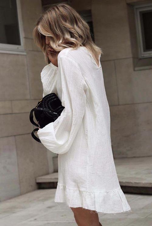 Những kiểu váy trắng mùa hè - Ảnh 3.