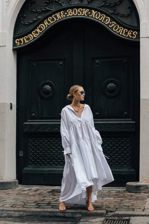 Những kiểu váy trắng mùa hè - Ảnh 4.