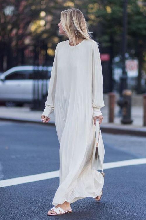 Những kiểu váy trắng mùa hè - Ảnh 6.