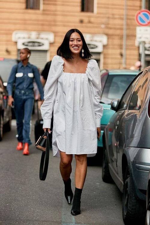 Những kiểu váy trắng mùa hè - Ảnh 7.