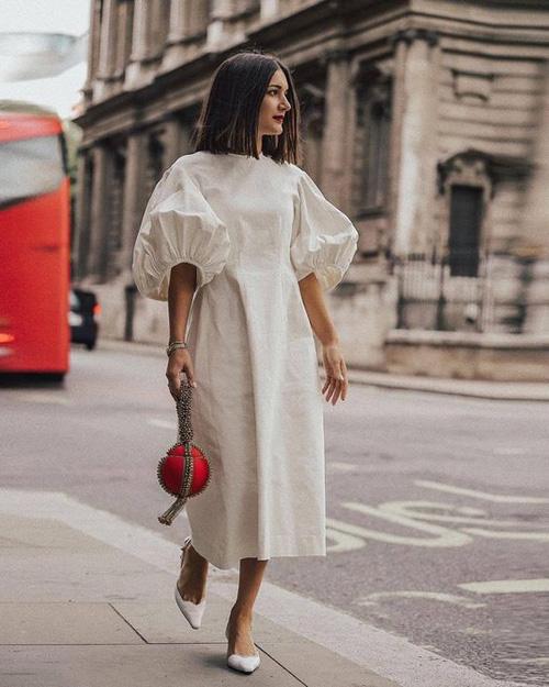 Những kiểu váy trắng mùa hè - Ảnh 8.