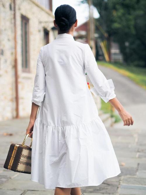 Những kiểu váy trắng mùa hè - Ảnh 9.