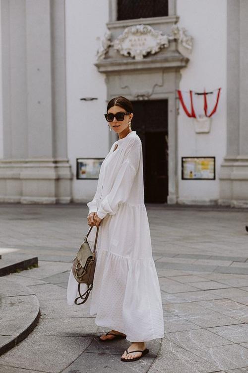 Những kiểu váy trắng mùa hè - Ảnh 10.