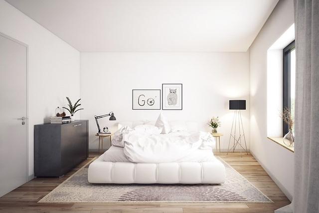 Ai muốn phòng ngủ của mình sang trọng mãi với thời gian đừng bỏ qua các mẫu phòng ngủ màu trắng đẹp hớp hồn này - Ảnh 14.