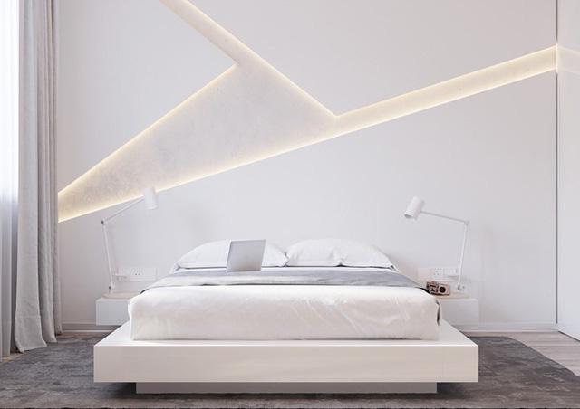Ai muốn phòng ngủ của mình sang trọng mãi với thời gian đừng bỏ qua các mẫu phòng ngủ màu trắng đẹp hớp hồn này - Ảnh 5.