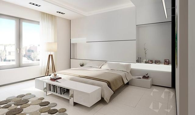 Ai muốn phòng ngủ của mình sang trọng mãi với thời gian đừng bỏ qua các mẫu phòng ngủ màu trắng đẹp hớp hồn này - Ảnh 9.