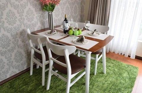 Những mẫu bàn ăn nhỏ làm thay đổi quan niệm chỉ có bàn ăn to mới sang, đẹp của nhiều người - Ảnh 2.
