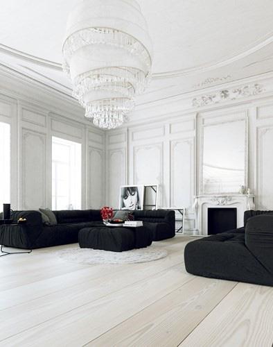 Trang trí phòng khách bằng cặp màu cổ điển này đảm bảo 10 người đến chơi 9 người khen - Ảnh 5.