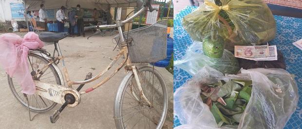 Cụ ông 90 tuổi đạp xe đến địa điểm cách ly để ủng hộ 20k, 1kg gạo, 1 quả bầu, 1 bó rau muống và 1 túi rau - Ảnh 3.