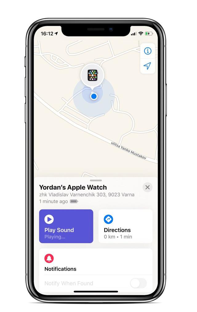 Cách tìm lại Apple Watch bị mất qua iPhone - Ảnh 4.
