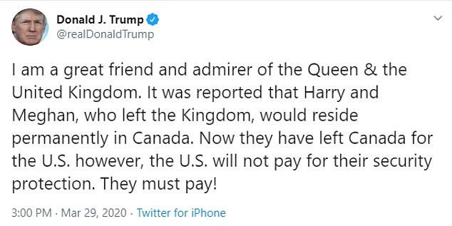 Vợ chồng Meghan Markle - Hoàng tử Harry bị Tổng thống Trump phũ phàng như thế này khi đặt chân đến Mỹ - Ảnh 3.