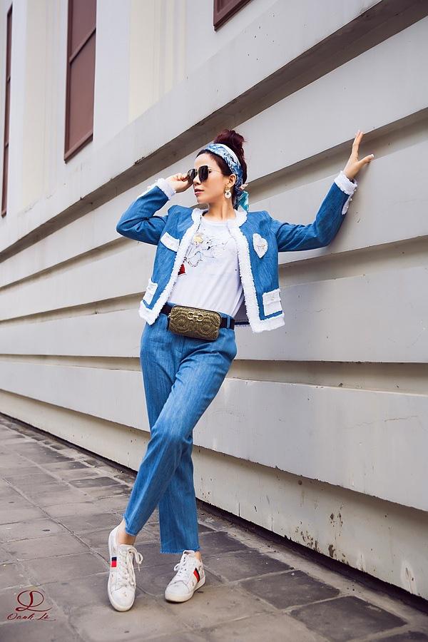 Hoa hậu Oanh Lê đón đầu xu hướng thời trang xuân hè - Ảnh 1.