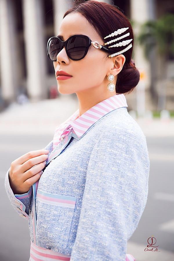 Hoa hậu Oanh Lê đón đầu xu hướng thời trang xuân hè - Ảnh 11.