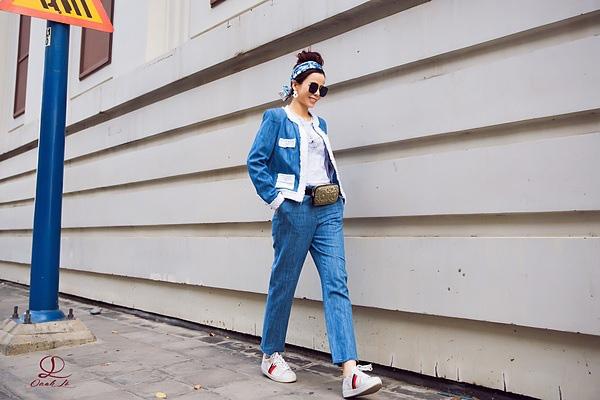 Hoa hậu Oanh Lê đón đầu xu hướng thời trang xuân hè - Ảnh 3.
