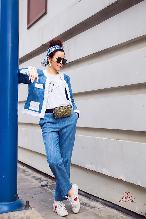 Hoa hậu Oanh Lê đón đầu xu hướng thời trang xuân hè - Ảnh 4.