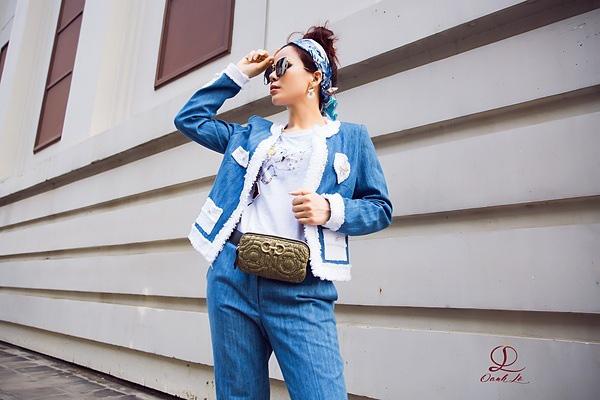 Hoa hậu Oanh Lê đón đầu xu hướng thời trang xuân hè - Ảnh 6.