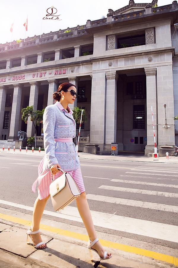 Hoa hậu Oanh Lê đón đầu xu hướng thời trang xuân hè - Ảnh 7.