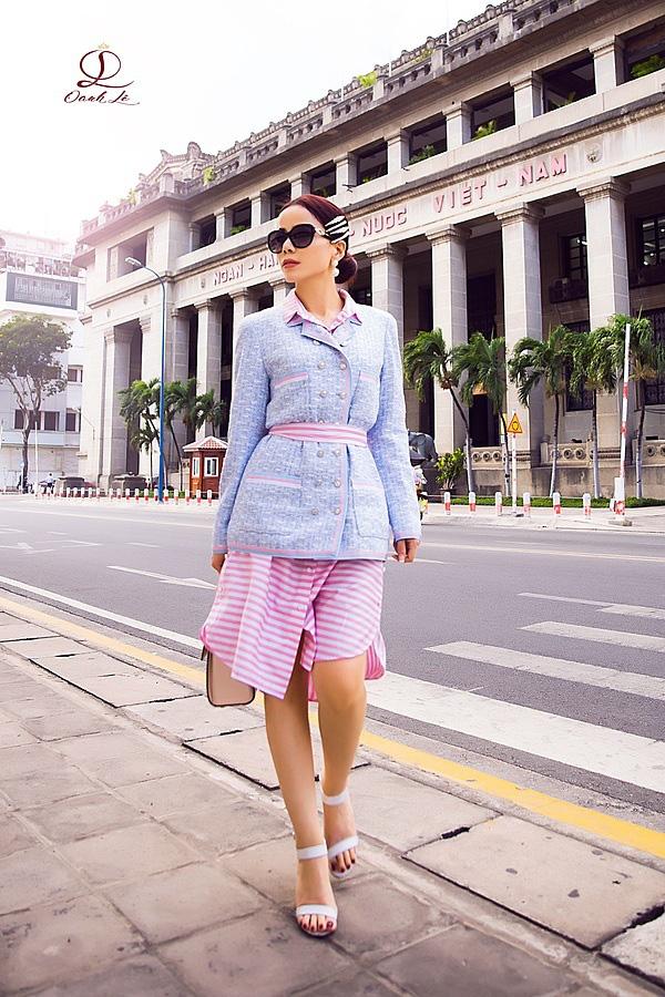 Hoa hậu Oanh Lê đón đầu xu hướng thời trang xuân hè - Ảnh 8.