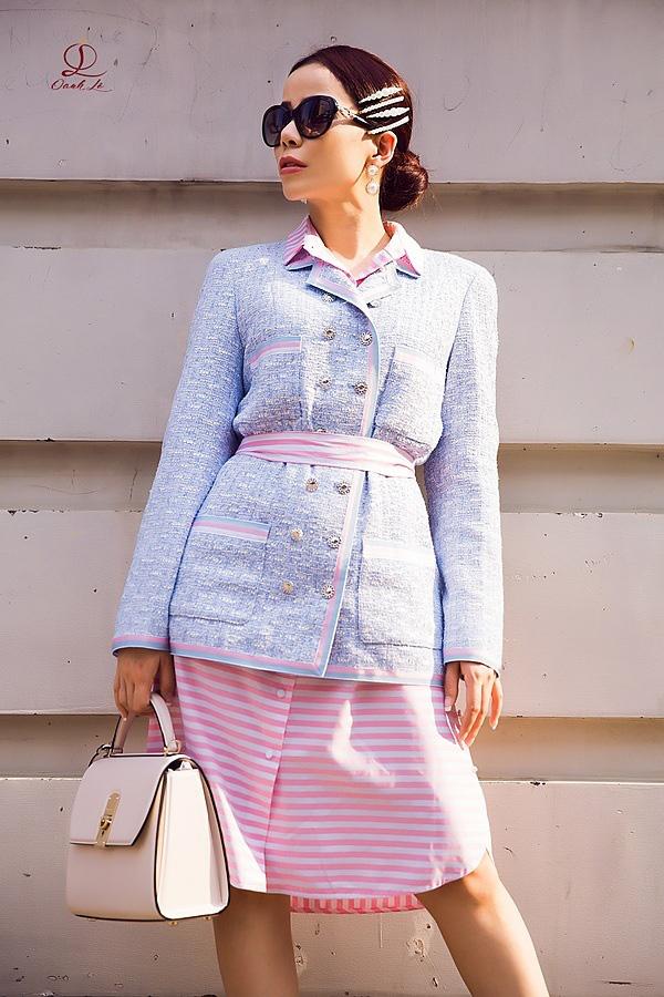 Hoa hậu Oanh Lê đón đầu xu hướng thời trang xuân hè - Ảnh 9.