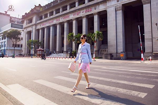 Hoa hậu Oanh Lê đón đầu xu hướng thời trang xuân hè - Ảnh 10.