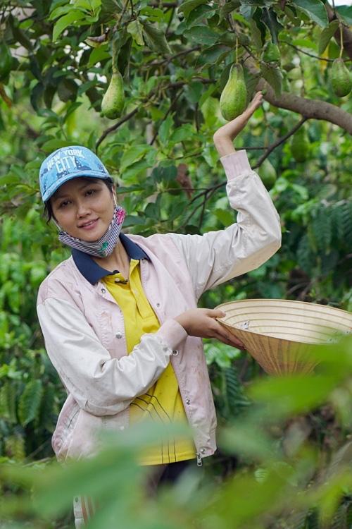 Hoa hậu HHen Niê mải mê thu hoạch rau trái trong vườn, rẫy - Ảnh 8.