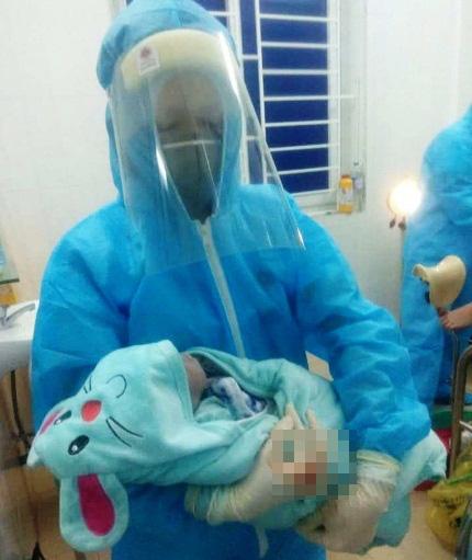 Sản phụ Nghệ An sinh con trong khu phòng cách ly phòng chống COVID–19 - Ảnh 2.