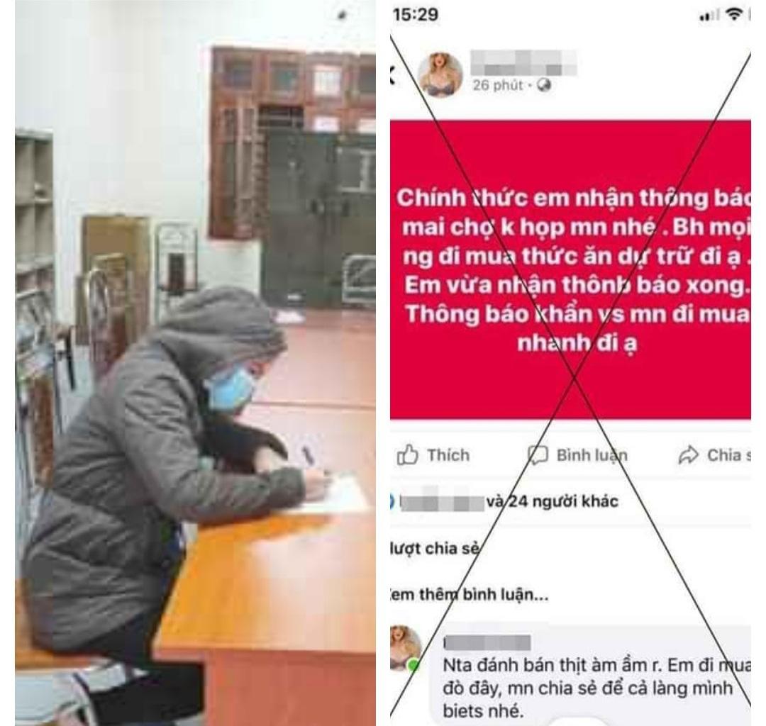 Hà Nội: Cô gái bị phạt 12,5 triệu đồng vì tung tin không họp chợ - Ảnh 1.