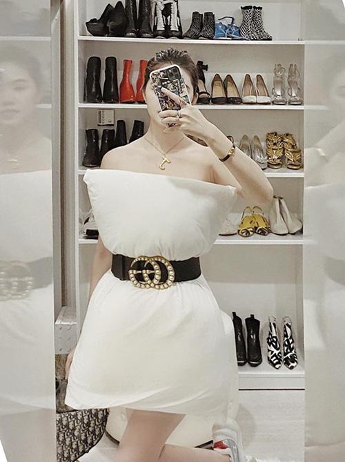 Sao Việt đua nhau biến gối ngủ thành váy sexy - Ảnh 8.