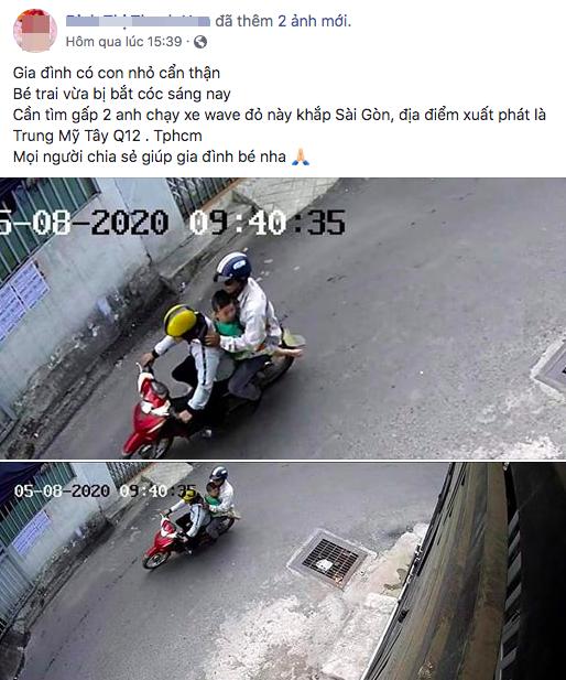 Chồng giữ con trai 4 tuổi, vợ trình báo con nghi bị bắt cóc ở Sài Gòn - Ảnh 1.