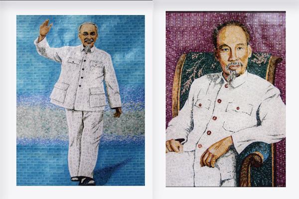 130 năm ngày sinh Bác Hồ: Kỳ công món quà ngoại giao, bí mật trong tranh ghép Bác Hồ - Ảnh 12.