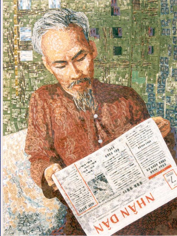 130 năm ngày sinh Bác Hồ: Kỳ công món quà ngoại giao, bí mật trong tranh ghép Bác Hồ - Ảnh 8.