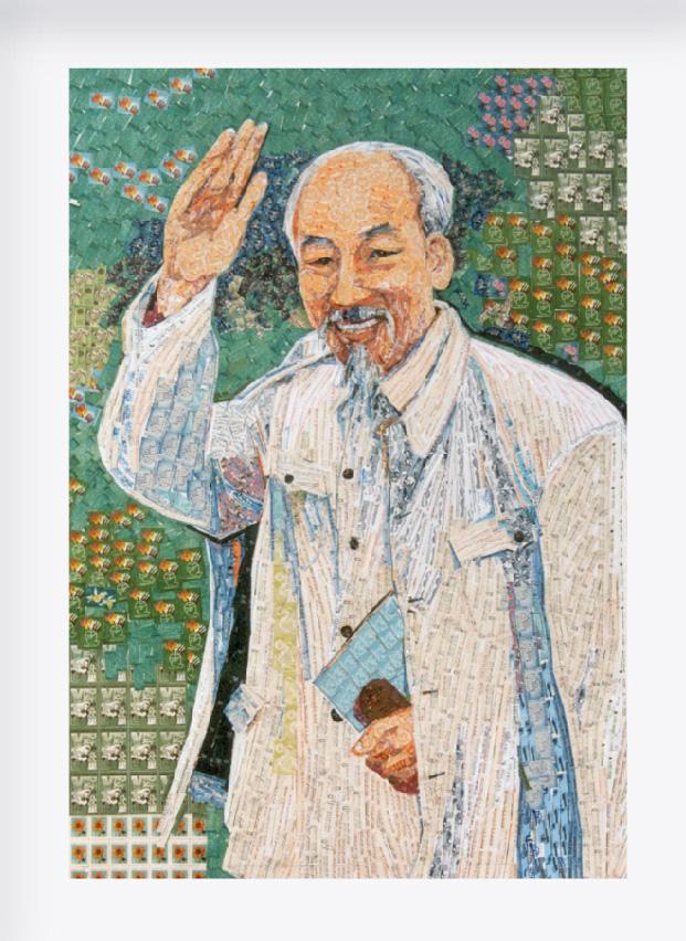 130 năm ngày sinh Bác Hồ: Kỳ công món quà ngoại giao, bí mật trong tranh ghép Bác Hồ - Ảnh 9.