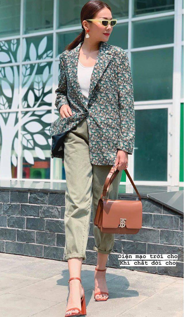 """Sao Việt diện trang phục xanh ngát: Xu hướng màu mới và mẹo """"lên đồ"""" cho nàng da ngăm - Ảnh 6."""