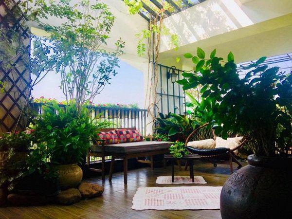 Khu vườn xanh mướt trong biệt thự ở ngoại thành của ca sĩ Xuân Nhị, tận mắt mới thấy cực hoàng tráng - Ảnh 3.