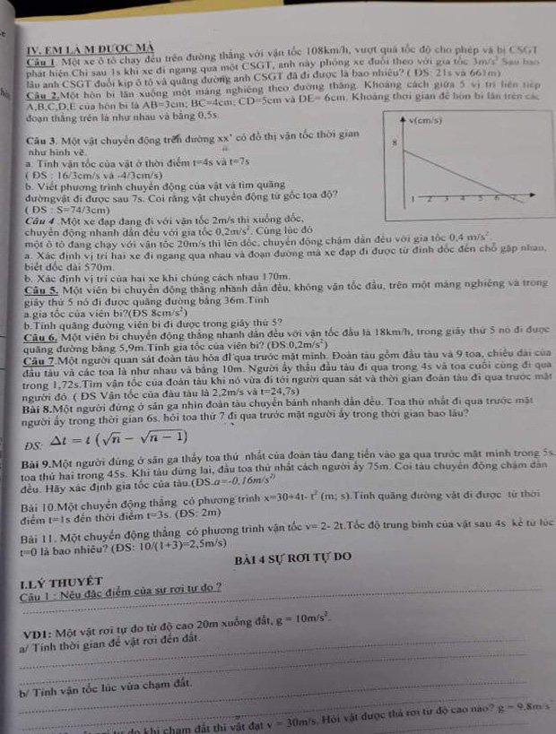 Đưa hình ảnh nam thần cao 1m7, bụng 6 múi vào đề Vật lý, giáo viên khiến tụi học trò sướng rơn - Ảnh 2.