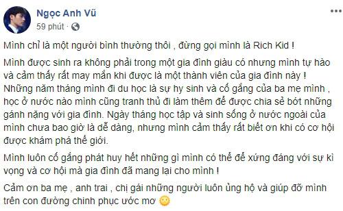 Người ấy là ai?: Thiếu gia Vũ Ngọc Anh lên tiếng phản pháo khi bị gọi là rich kid, sống sang chảnh là nhờ gia đình - Ảnh 2.