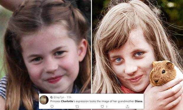 Dân mạng thích thú khi phát hiện Công chúa Charlotte - con gái của Hoàng tử William giống bà nội quá cố như đúc - Ảnh 4.
