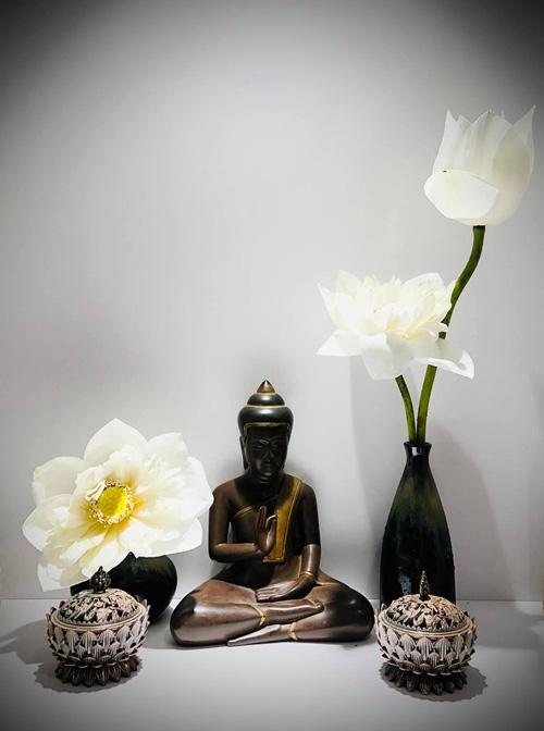 Căn hộ ngập sắc hoa của Ngọc Diễm - Ảnh 2.