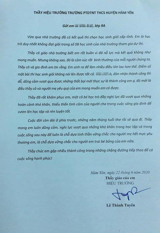 Xúc động bức thư thầy hiệu trưởng gửi học sinh không đoạt giải cấp tỉnh  - Ảnh 1.