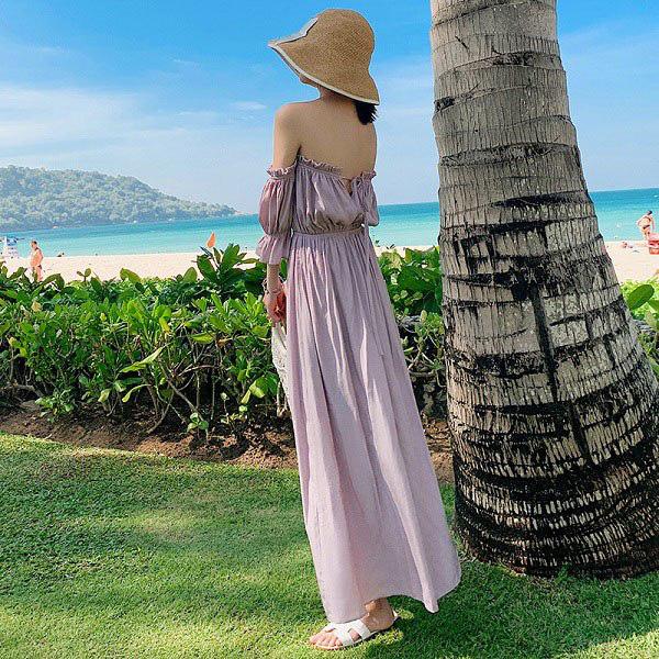 Kiểu váy liền được Hà Hồ ưu ái, mặc đi du lịch biển vừa đẹp lại khỏi lo đen da - Ảnh 8.