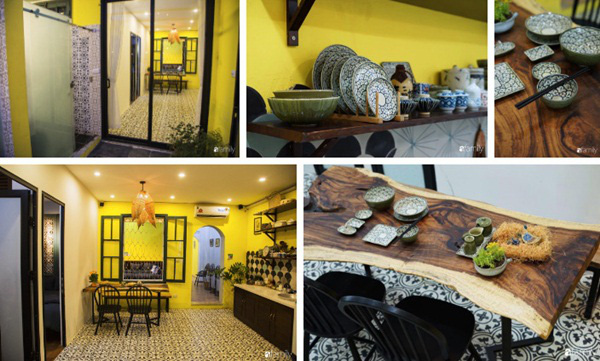 Căn hộ tập thể màu vàng sắc nắng mang vẻ hoài cổ ấn tượng ở quận Hoàn Kiếm, Hà Nội - Ảnh 3.