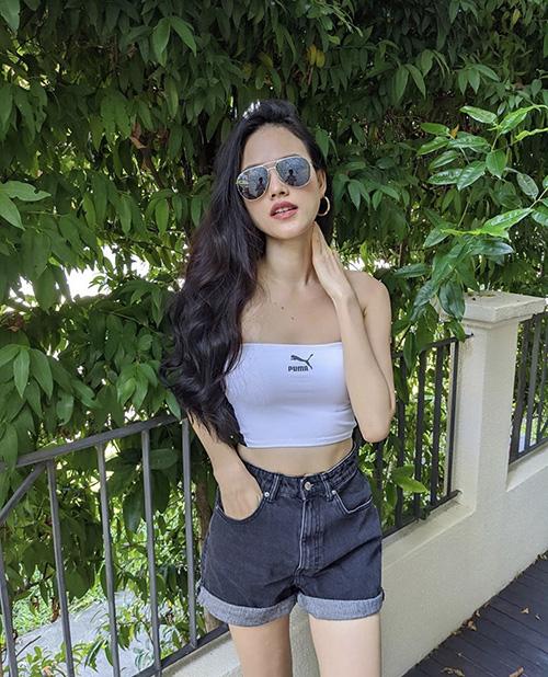 Diện quần short đẹp và đơn giản như sao Việt - Ảnh 6.