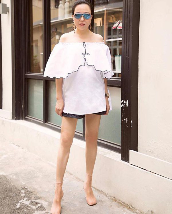 Bất chấp thân hình mũm mĩm, Phượng Chanel vẫn đam mê diện áo bẹt vai, hoá ra là có chiêu - Ảnh 14.