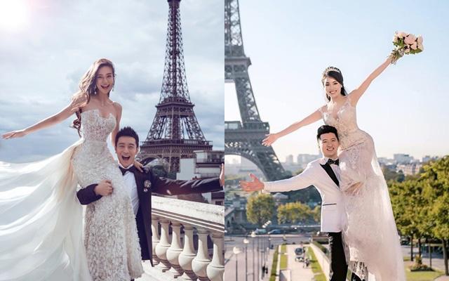 Phát hiện chi tiết trùng hợp không ngờ trong bức ảnh ngôn tình của vợ chồng Nguyễn Trọng Hưng và cặp đôi Huỳnh Hiểu Minh - Angelababy - Ảnh 2.