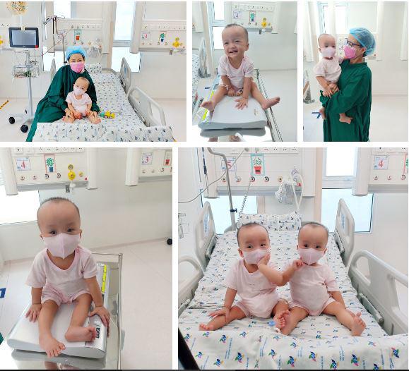 ẢNH: 2 chị em Trúc Nhi - Diệu Nhi đã tháo nẹp bột, sẵn sàng cho những bước đi đầu tiên trong cuộc đời - Ảnh 3.